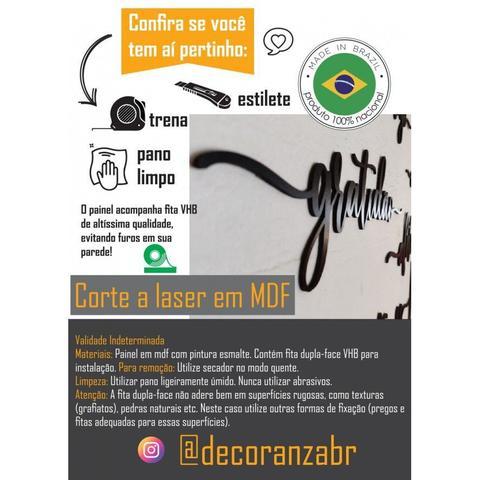 Imagem de Lettering palavra personalizada 43x13cm em Madeira MDF Apliques de Parede