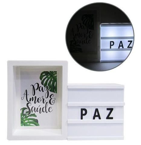 Imagem de Light Box Com Porta Retrato Letreiro Led Letra Luminaria