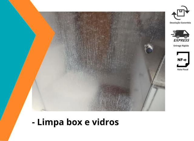 Imagem de Limpa Box E Vidros Kit Pingo Magico Flotador E Acido Remove Mancha 1L X2