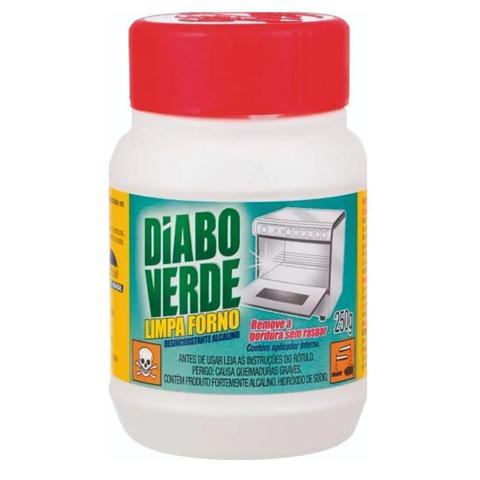 Imagem de Limpa Gordura Forno Fogão Diabo Verde 250g - Kit com 06 Unidades