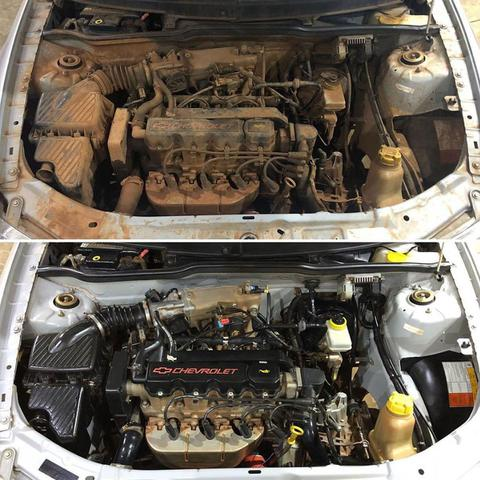 Imagem de Limpa Motores 1 Litro Cadillac Ferrugem + APC Interiores 650ml