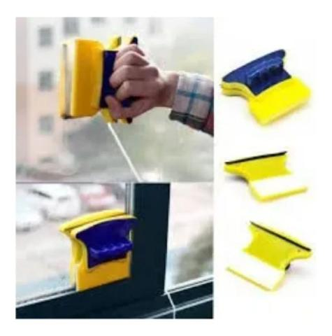 Imagem de Limpa Vidro Magnetico Janela Limpador Vidros Box Automatico