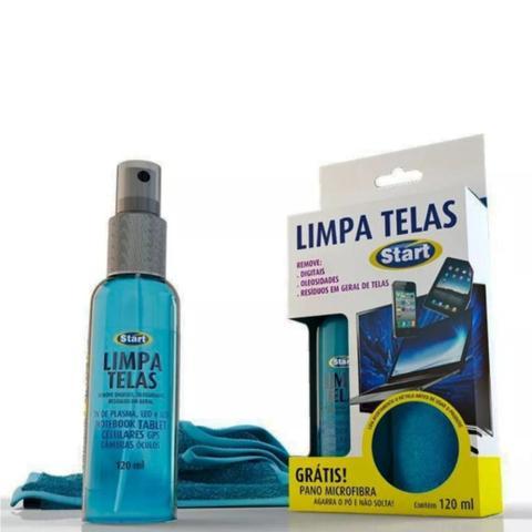 Imagem de LIMPADOR LIMPA TELAS START 120ml + PANO MICROFIBRA - PARA COMPUTADOR, CELULAR, NOTEBOOK, TABLETS