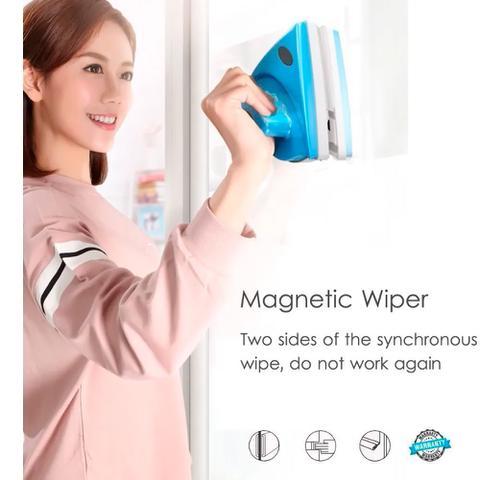 Imagem de Limpador Vidros Magnético Limpa Janelas Imã Forte Nova Versão
