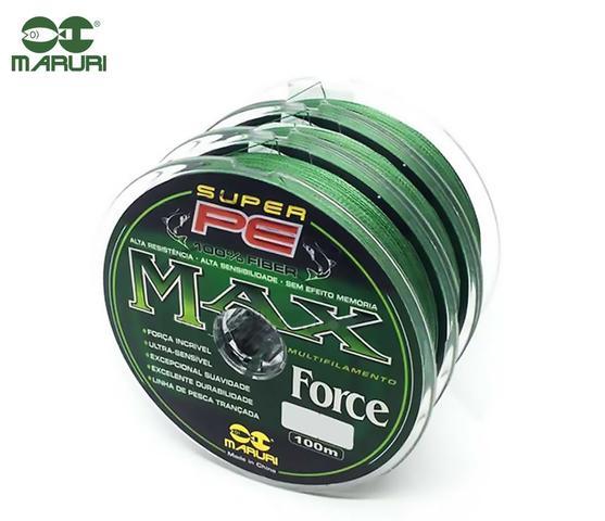 Imagem de Linha Multifilamento Maruri PE Max Force 0,18mm 21lbs/9,5kg - 100 Metros