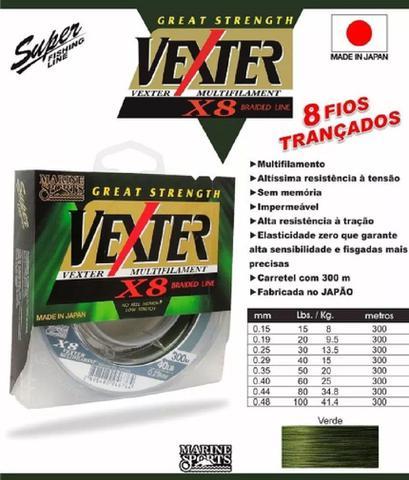 Imagem de Linha Pesca Multifilamento Vexter X8 0.15mm 15 Lbs 300 Metros 8 Fios
