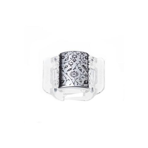 Imagem de Linziclip Prendedor de Cabelo Core Silver Metallic Floral