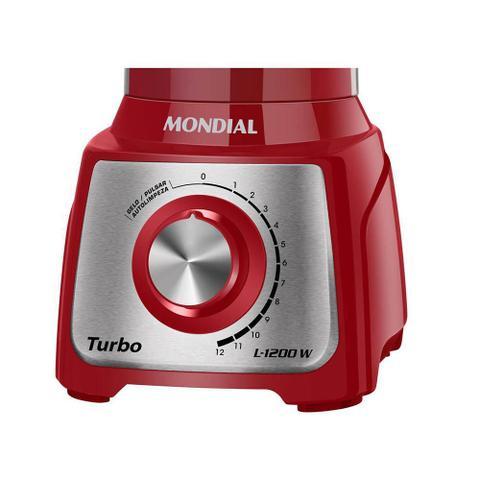 Imagem de Liquidificador 12veloc. 1200w Turbo Inox L-1200 Mondial 110v