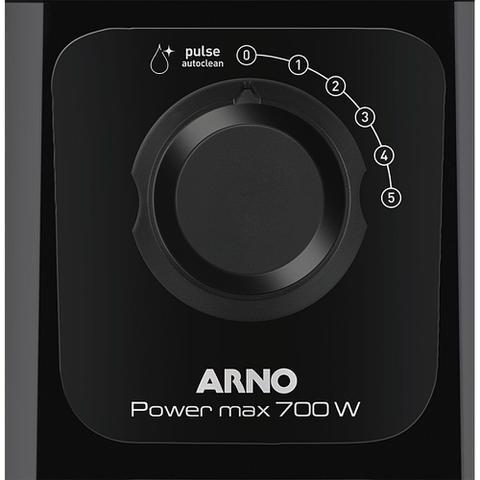 Imagem de Liquidificador 700W 3.1L Arno Power Max LN50 com 5 Velocidades Preto 127V