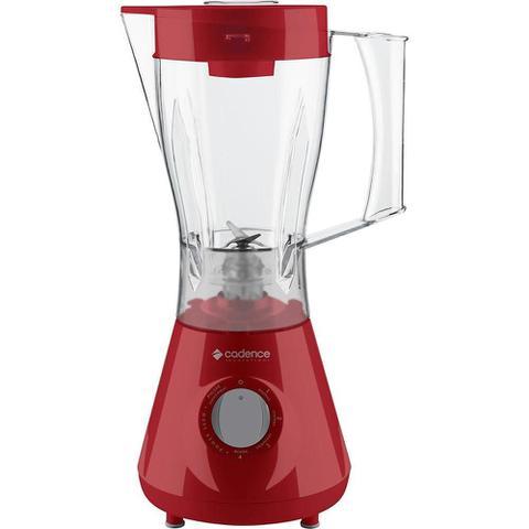 Imagem de Liquidificador Cadence Trapèze Vermelho LIQ351 Copo de Plástico 4 Velocidades 500W