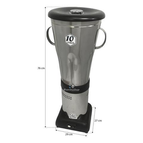 Imagem de Liquidificador Industrial Baixa Rotação 10 Litros 1200w Copo Em Inox - JL Colombo