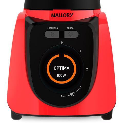 Imagem de Liquidificador Mallory Optima Glass Vermelho 900w
