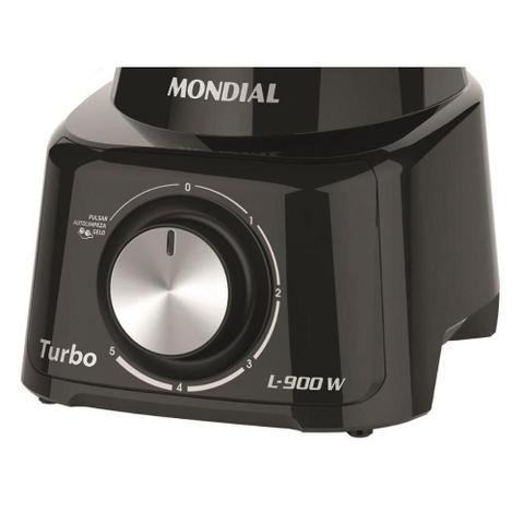 Imagem de Liquidificador Mondial 900w L-900, 5 Velocidades Preto 110v