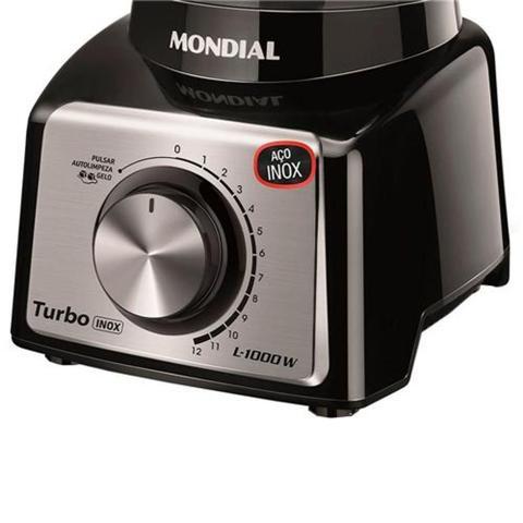 Imagem de Liquidificador Mondial inox-preto 127v- 3,0L -L-1000BI Turbo