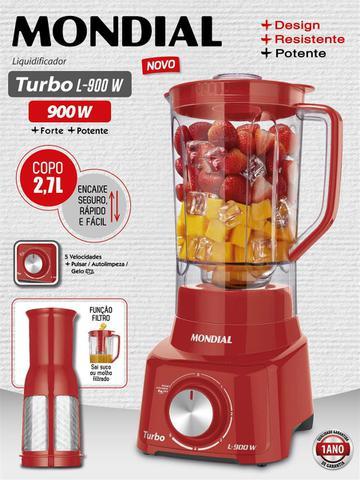 Imagem de Liquidificador Mondial Turbo 900W L-900 FR-2C