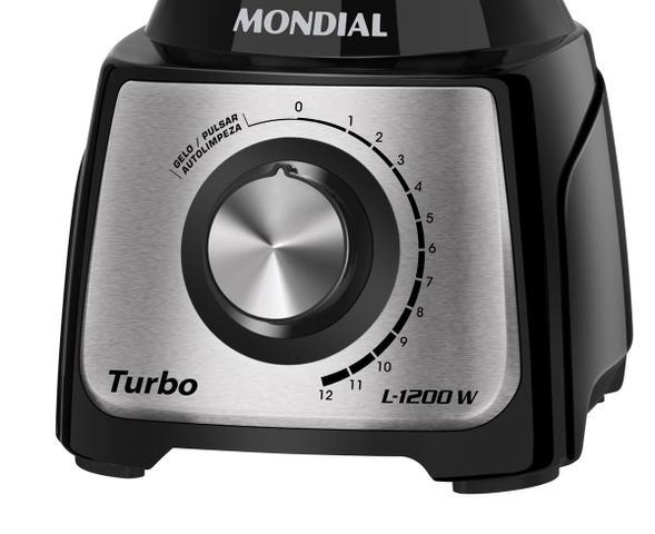 Imagem de Liquidificador Mondial Turbo Black L-1200 BI