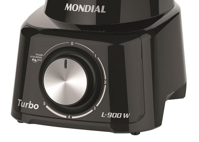 Imagem de Liquidificador Mondial Turbo Full Black L-900fb 900w - 127V