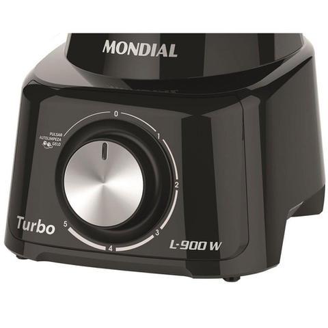Imagem de Liquidificador Mondial Turbo Full Black L-900Fb 900W 5 Velocidades e Função Pulsar/Gelo