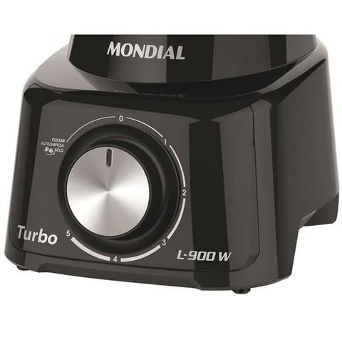Imagem de Liquidificador Mondial Turbo Full Black L-900Fb 900W 5 Velocidades + Função Pulsar Gelo Preto