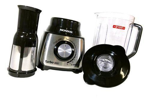 Imagem de Liquidificador Mondial Turbo Inox 1200w 110v Li1200bi