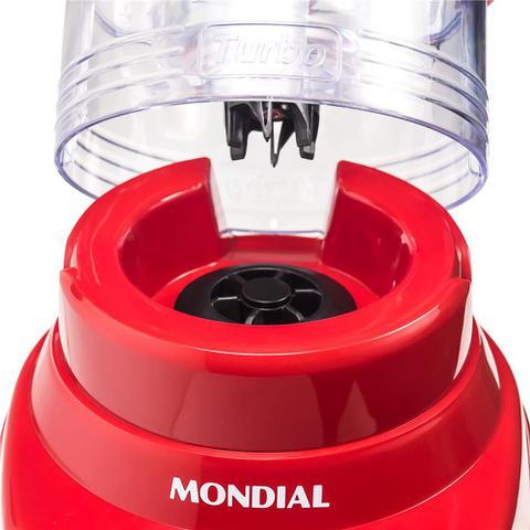 Imagem de Liquidificador Mondial Turbo Inox 1200W L-1200 Vermelho 127V