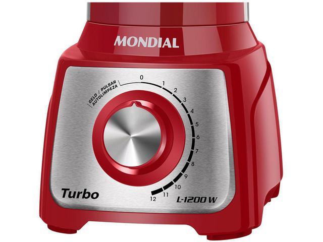 Imagem de Liquidificador Mondial Turbo Inox L-1200 RI - com Filtro 12 Velocidades 1200W