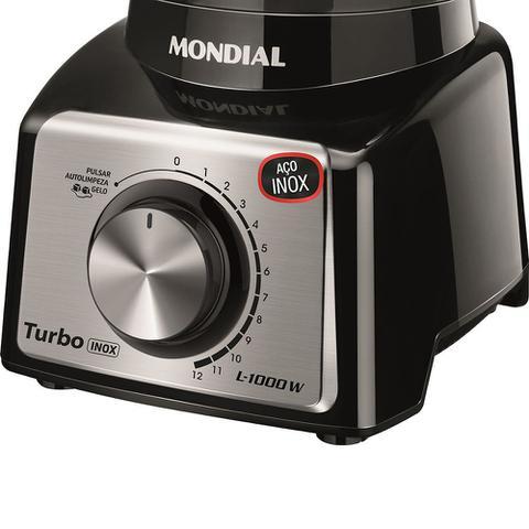 Imagem de Liquidificador Mondial Turbo L-1000 Bi Preto/Inox - 220V