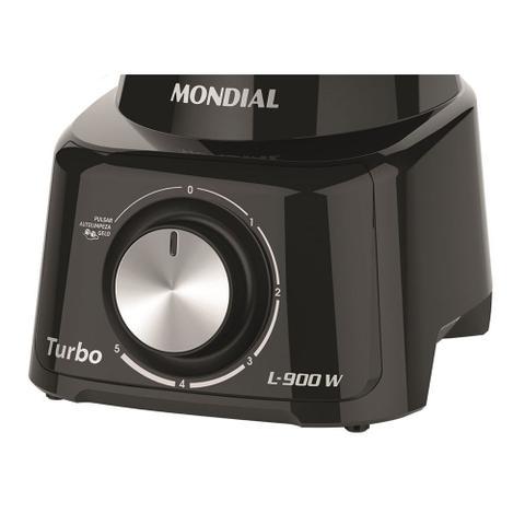Imagem de Liquidificador Mondial Turbo L900 5 Velocidades Pulsar Filtro 900W - Preto