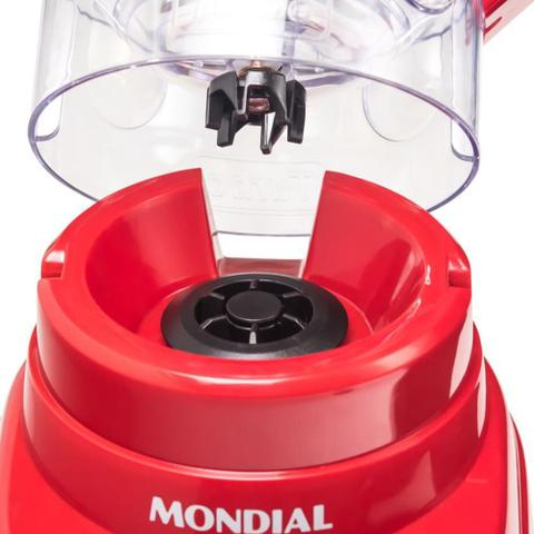 Imagem de Liquidificador Mondial Turbo Power 2,2 Litros 500W com 3 Velocidades L-99FR Vermelho
