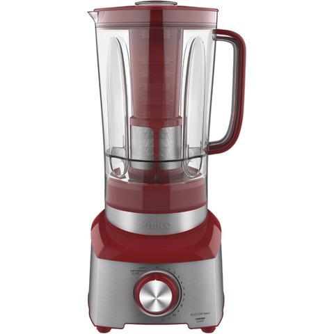 Imagem de Liquidificador philco plq1350v 3 litros 1200w turbo inox vermelho - 220v