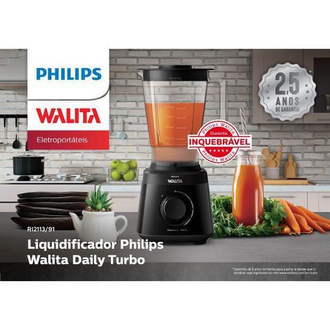Imagem de Liquidificador Philips Walita Daily Turbo RI2113/91 - Jarra Duravita Inquebrável 2L -  com Filtro - 700W  - Preto