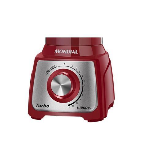 Imagem de Liquidificador turbo inox com 12 velocidades 3l 1200w l-1200 ri vermelho 127v