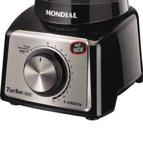Imagem de Liquidificador Turbo Mondial 3 Litros Black L-1000 BI 127v