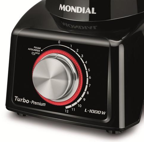 Imagem de Liquidificador Turbo Mondial  Premium Full Black L-1000 FB