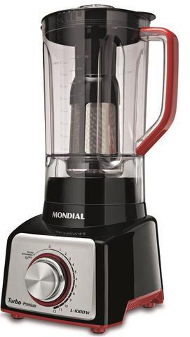 Imagem de Liquidificador Turbo Mondial Premium Red & Black L-1000 RB