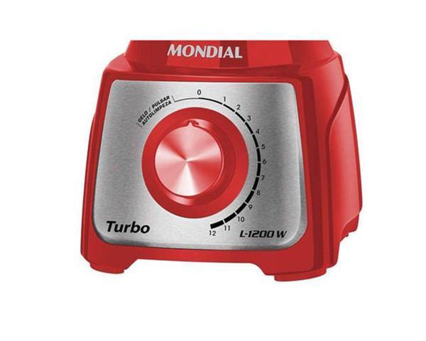 Imagem de Liquidificador Turbo Red Inox 3L 1200W 12 V Mondial