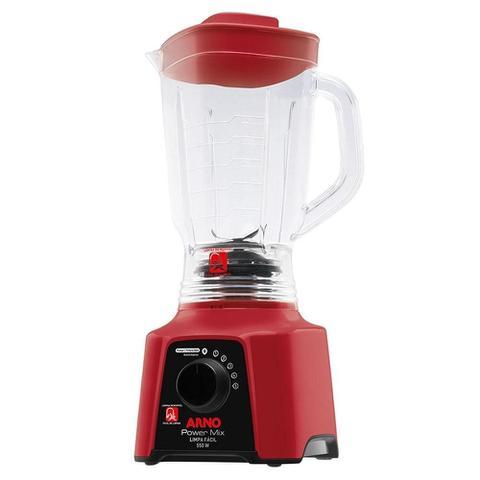 Imagem de Liquificador Arno Power Mix Lq30 Copo San Cristal 5 Velocidades + Pulsar 550w Vermelho