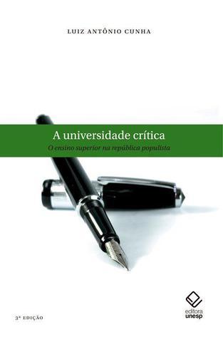 Imagem de Livro - A universidade crítica