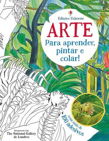 Imagem de Livro - Arte para aprender, pintar e colar!