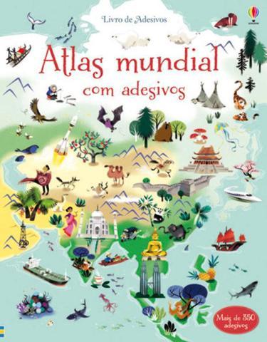Imagem de Livro - Atlas Mundial : Livro de adesivos