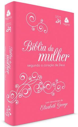 Imagem de Livro - Bíblia da mulher segundo o coração de Deus - Pink/ Branca