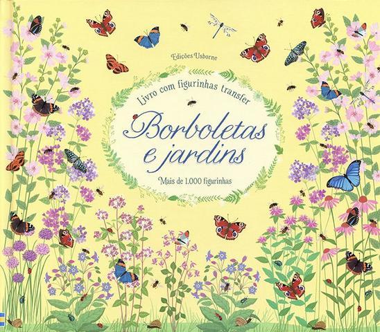 Imagem de Livro - Borboletas e jardins : Livro com figurinhas transfer