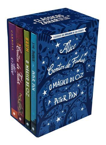 Imagem de Livro - Box Clássicos que Brilham no Escuro: Alice, Contos de fadas, O Mágico de Oz e Peter Pan