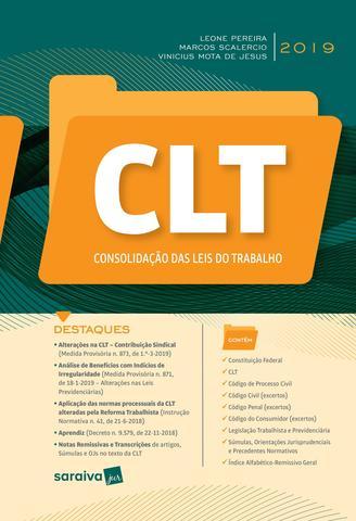 Imagem de Livro - CLT - Consolidação das Leis do trabalho - 1ª edição de 2019