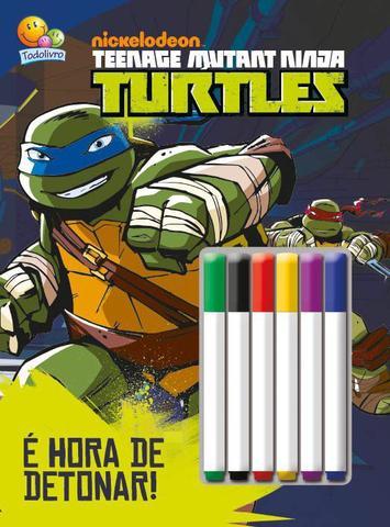 Imagem de Livro - Colorir e atividades com canetinha: Ninja Turtles