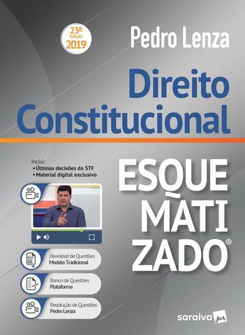 Imagem de Livro - Direito constitucional esquematizado® - 23ª edição de 2019
