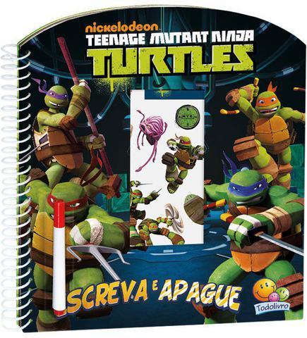 Imagem de Livro - Escreva e apague licenciados: Ninja Turtles