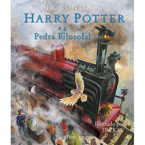 Imagem de Livro - Harry Potter e a pedra filosofal - Edição ilustrada