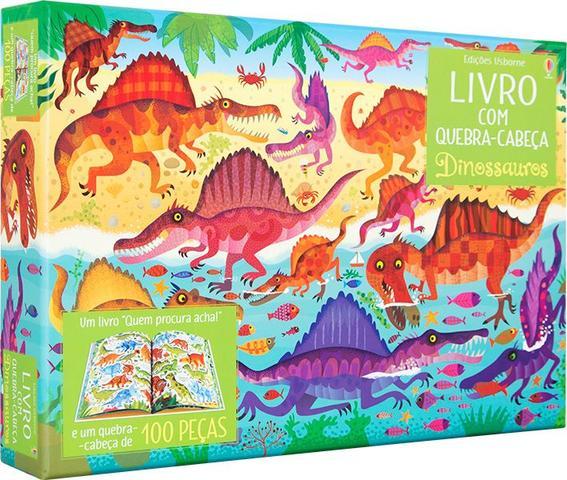 Imagem de Livro - Livro com quebra-cabeça : Dinossauros