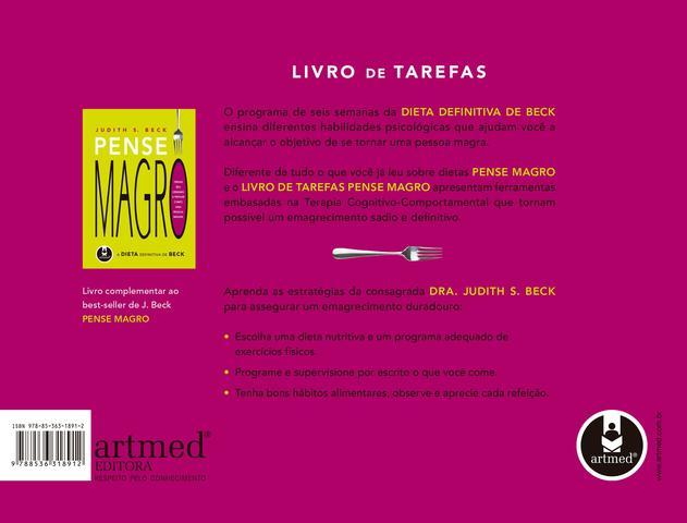 Imagem de Livro - Livro de Tarefas Pense Magro